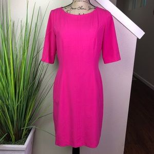 Tahari Arthur S. Levine semi fitted pink dress